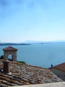 Vittoria Aganoor Pompilj´s view over Lake Trasimeno