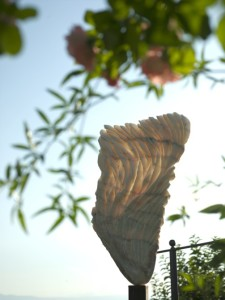 Wings, the first sculpture I made for the exhibition and the first poem which came to my mind..